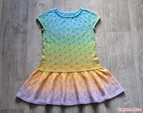 Летнее платье для внучки.