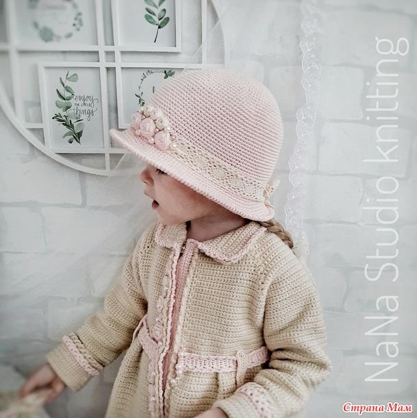 """Пальто и шляпка для девочки """"Барышня"""""""