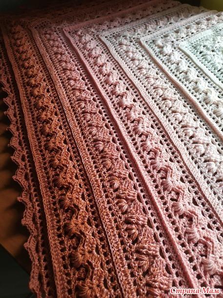 Очередной бактус из Yarn Art Flowers