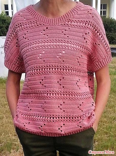 Пуловер крючком. Автор Екатерина Мизинова