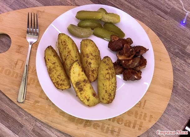 Картошка с грибами в духовке Постный рецепт без заморочек