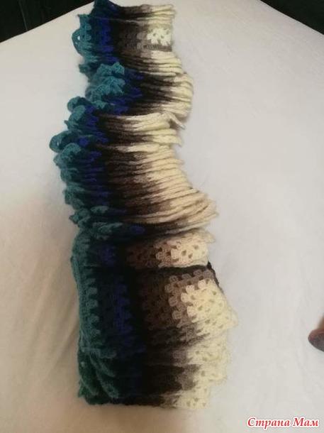 Плед 3D крючком