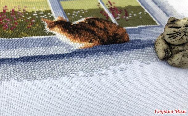 Вышивка Heritage 834 Окно коттеджа (Cottage Window)