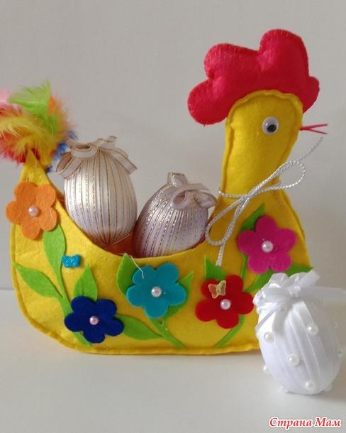 Рукодельный проект-конкурс. Весна. Курочка и яйца.
