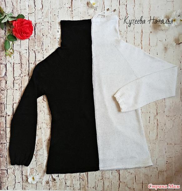 Черно-белое вязаное изделие: свитер, худи или свитшот?