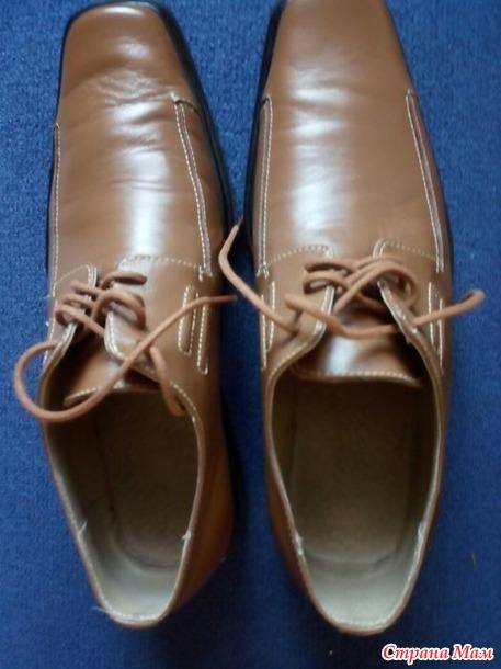 Продам женскую обувь 40 размера. б/у. и мужские туфли. Россия