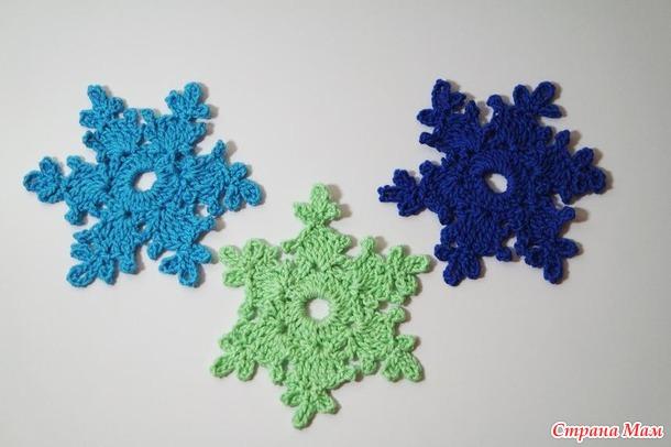 MK. Красивая снежинка крючком для начинающих