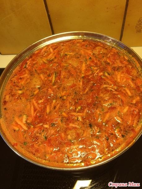 Кабачковый суп по рецепту от моей дочери.