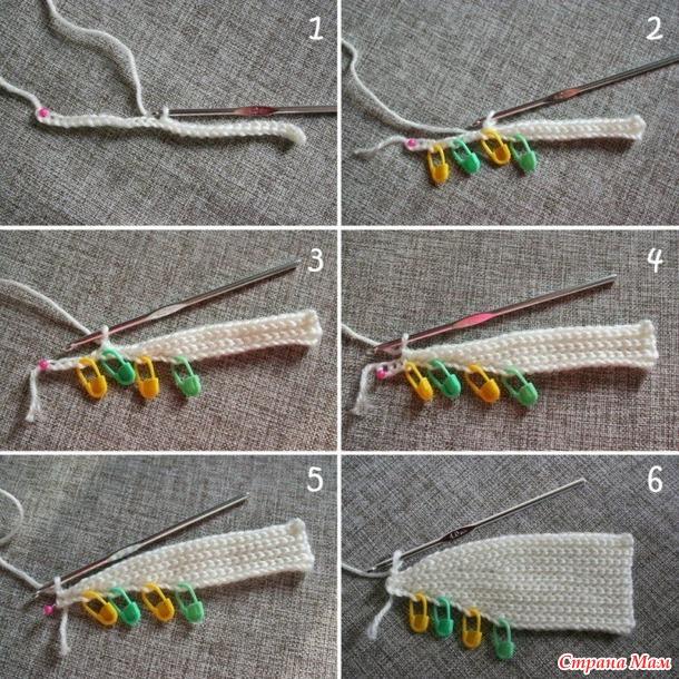 Шапка крючком (частичное вязание)