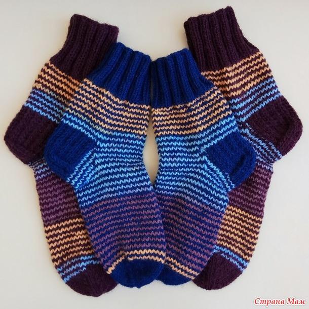 Детские носки на 5-7 лет методом Хеликс. МК