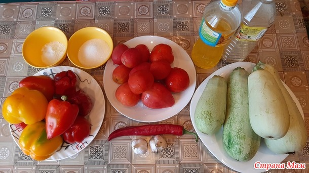 Салат из кабачков в томатном соусе на зиму