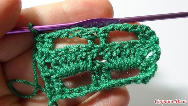 Простой узор для вязания крючком
