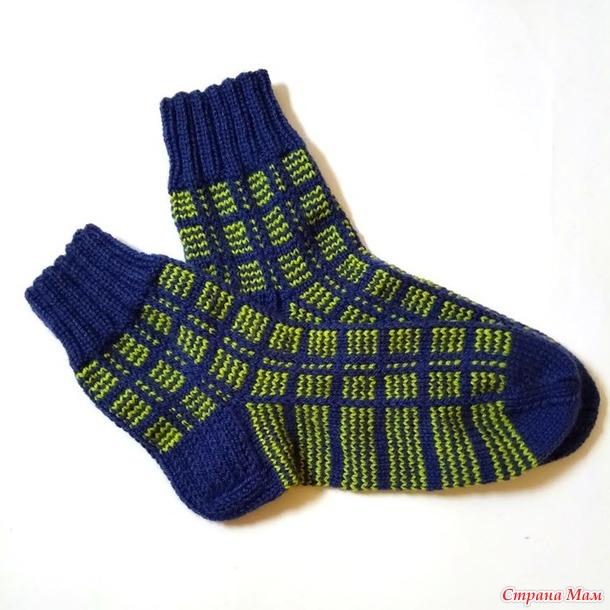 Мужские носки в клетку