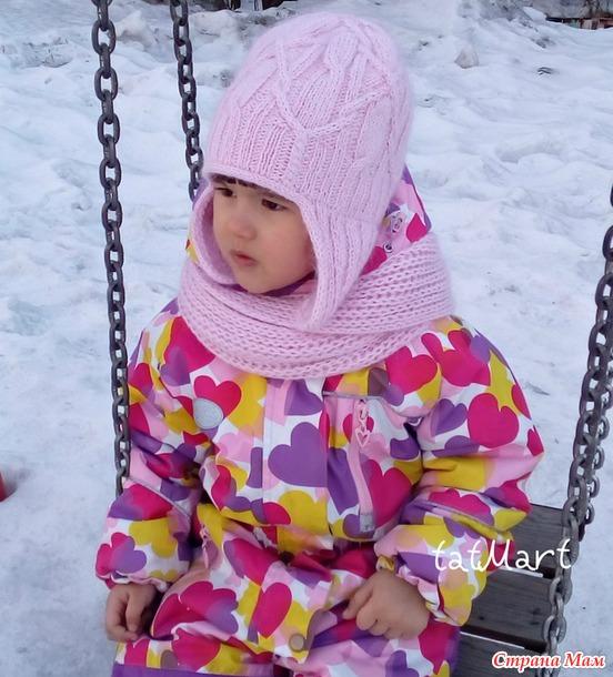 Мастер класс Pink cable hat&cowl спицами. Скидка 20%. Россия и все желающие.