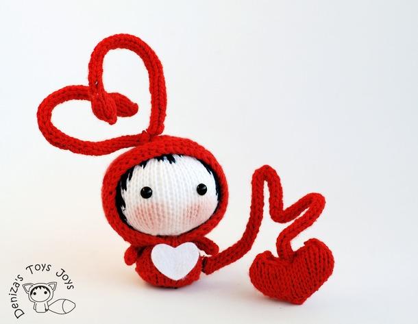 Идеи вязанных игрушек к дню Святого валентина.