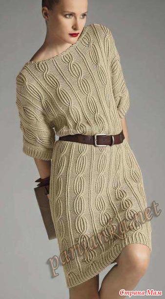 Эффектное платье спицами. Мастер-класс