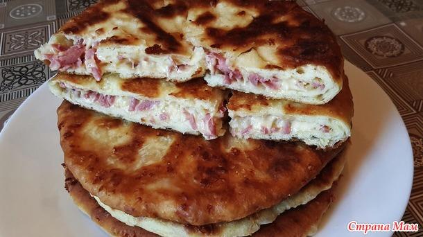 Сырные лепешки на кефирном тесте с начинкой
