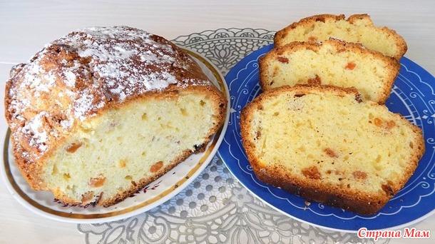 Столичный кекс с изюмом простой рецепт