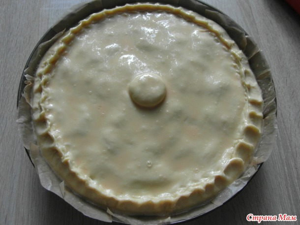 Мясной пирог с картошкой.