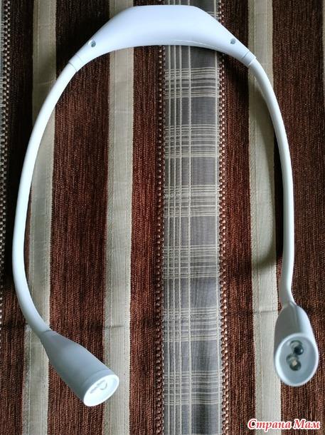 Гибкий фонарик не заменимый гаджет для вязания