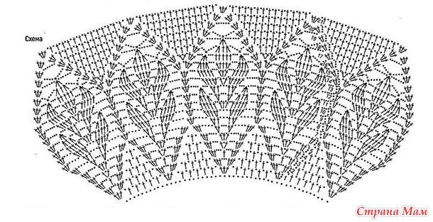 Летний пуловер с ажурной кокеткой