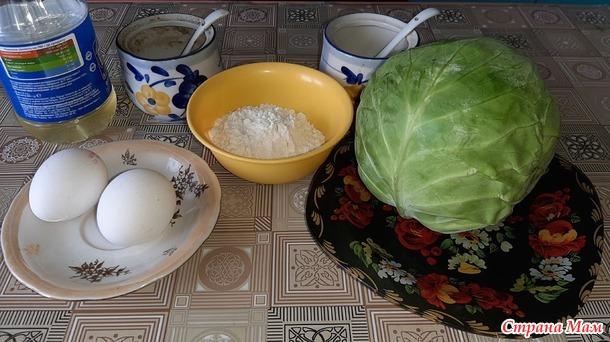 Вкусный завтрак из капусты и яиц