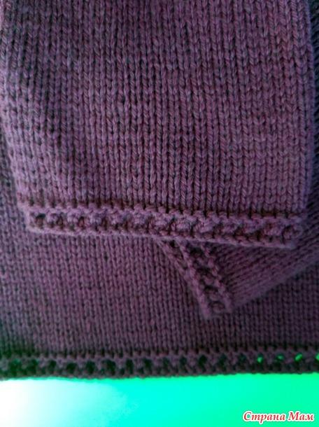 Пуловер с круглой кокеткой. Спицы.