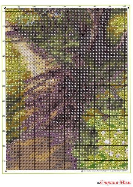 Пейзаж и цветочные бордюры из Dein Kreuzstich magazin №2 2021