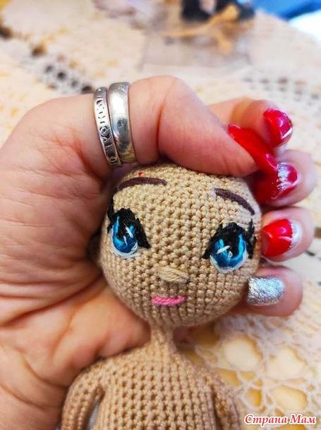 Кукла примитив крючком