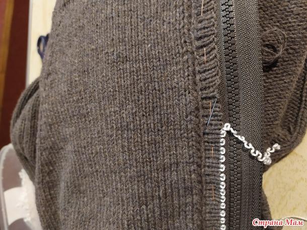 Мужская кофта на молнии с капюшоном