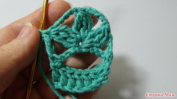 цветочная обвязка края крючком