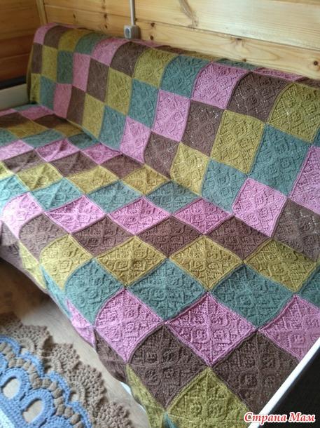 Плед на диван из итальянской смесовой пряжи