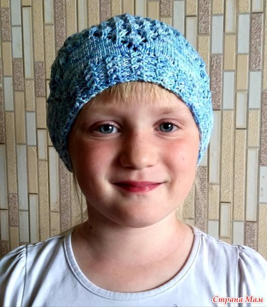 Ажурная шапочка для девочки 7лет