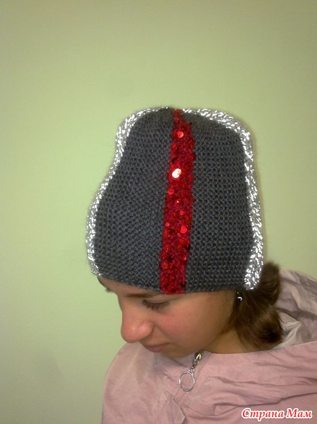 Радуга-2021 Сентябрь Серый Необычная шапка.